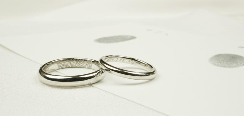 指紋-結婚指輪