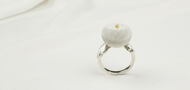丸い菊のリング